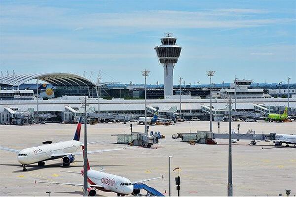 Aeroportul Franz Josef Strauss din Munchen, unul dintre cele mai mari aeroporturi din Europa